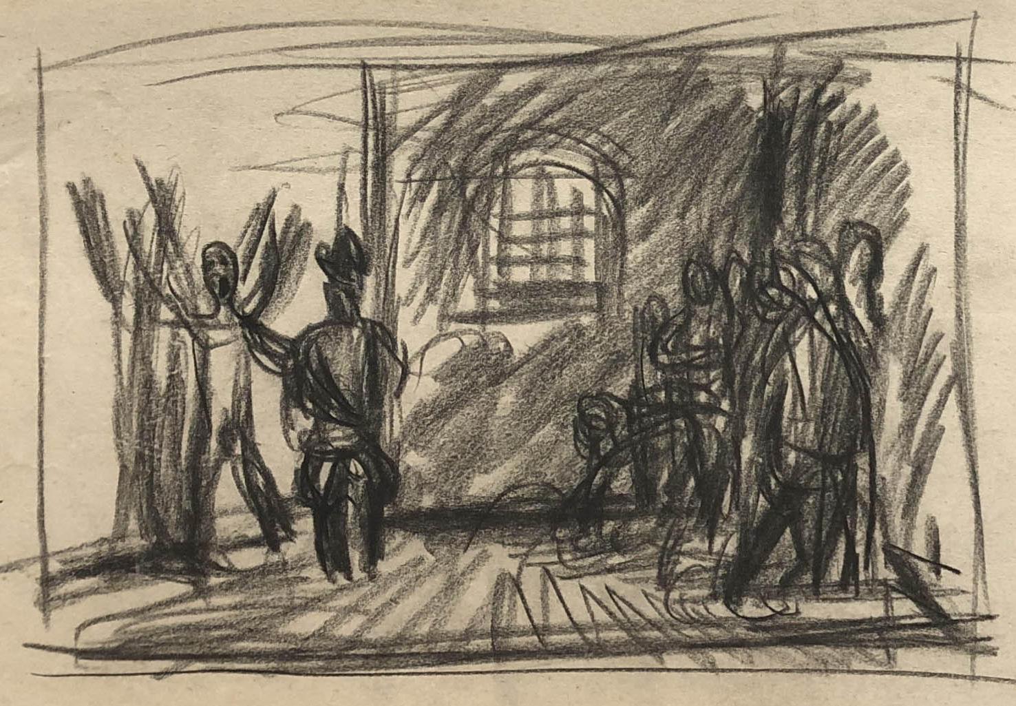 Rysunek przedstawiający więźniów wCharkowie