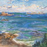 Obraz przedstawiający morze, Józef Czapski (1896-1993), Pejzaż morski, 1961 rok, 50 cm x 61 cm, technika olejna, farba olejna, płótno
